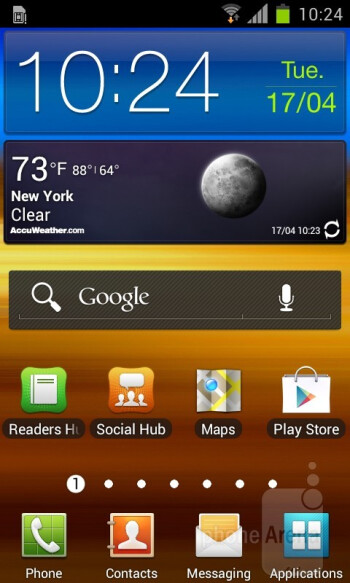 Samsung Galaxy S II with TouchWiz UI over ICS - HTC One S vs Samsung Galaxy S II