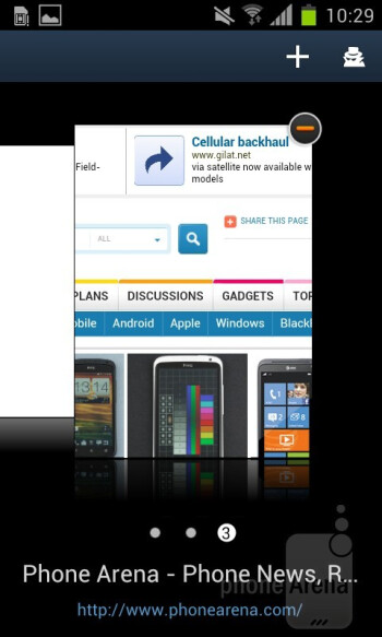 The browser of the Samsung Galaxy S II - HTC One S vs Samsung Galaxy S II
