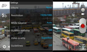 Camera interface of the Samsung Galaxy S II - HTC One S vs Samsung Galaxy S II