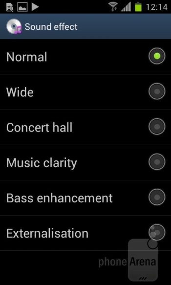 Music player of the Samsung Galaxy S II - HTC One S vs Samsung Galaxy S II