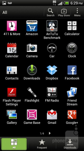 The main menu - HTC One S for T-Mobile Review