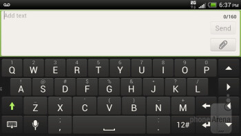 On-screen keyboard - HTC One S for T-Mobile Review