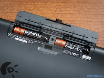 Battery compartment - Logitech Tablet Keyboard for iPad Review
