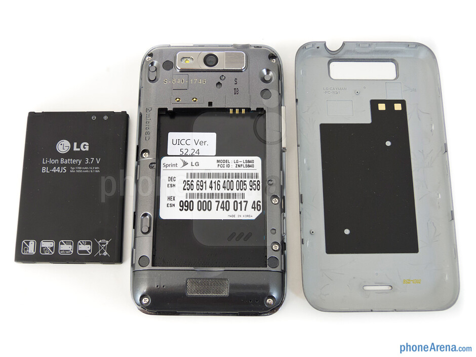 Battery compartment - Back - LG Viper 4G LTE Review