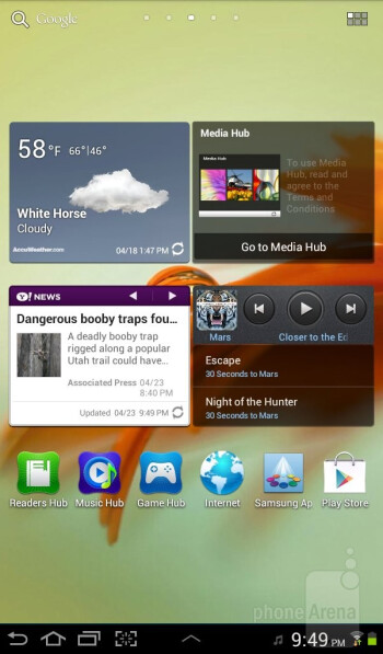 The Samsung Galaxy Tab 2 (7.0) runs Android 4.0 Ice Cream Sandwich out of the box - Samsung Galaxy Tab 2 (7.0) Review