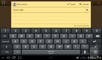 Virtual keyboard - Samsung Galaxy Tab 2 (7.0) Review