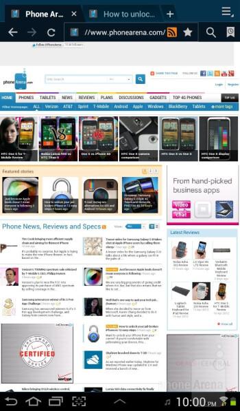 Web browsing with the Samsung Galaxy Tab 2 (7.0) - Samsung Galaxy Tab 2 (7.0) Review