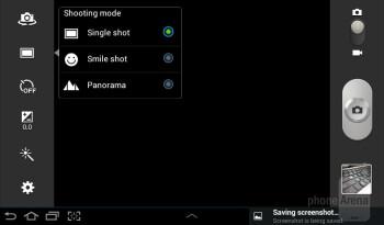 Camera interface - Samsung Galaxy Tab 2 (7.0) Review