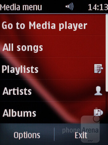 Music player - Nokia Asha 303 Review
