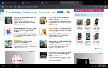 Web browsing with the Asus Transformer Pad 300 - Asus Transformer Pad 300 Review