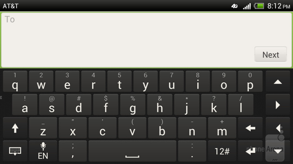 HTC One X is easy on the fingers when it comes to typing up messages - HTC One X for AT&T Review