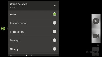 The camera interface - HTC One X for AT&T Review