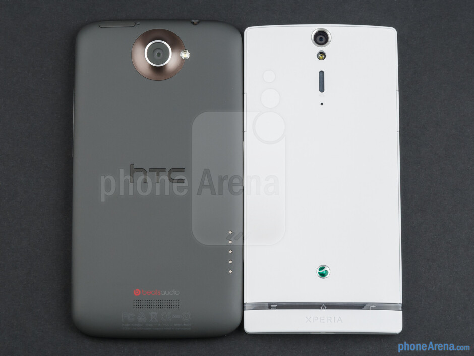 Backs - The HTC One X (left) and the Sony Xperia S (right) - HTC One X vs Sony Xperia S