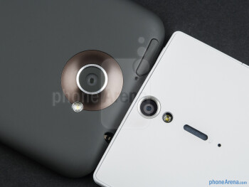 Rear cameras - The HTC One X (left) and the Sony Xperia S (right) - HTC One X vs Sony Xperia S