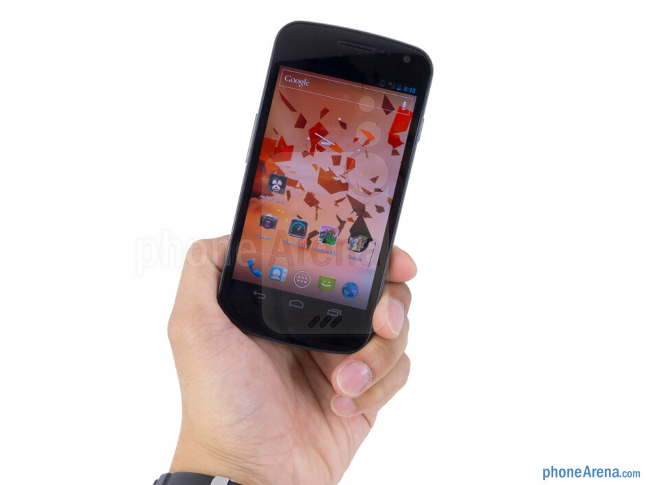 The Samsung Galaxy Nexus is fairly lightweight and solid thanks to its plastic body - Samsung Galaxy Nexus for Sprint Review