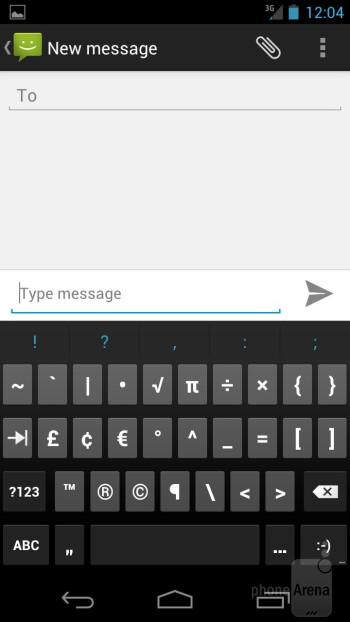 Virtual keyboard - Samsung Galaxy Nexus for Sprint Review