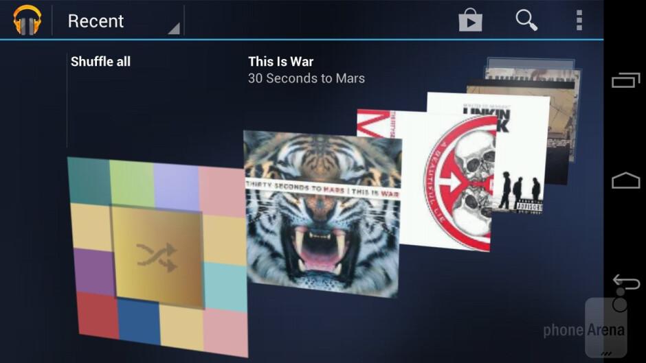 Playing music on the Samsung Galaxy Nexus - HTC EVO 4G LTE vs Samsung Galaxy Nexus