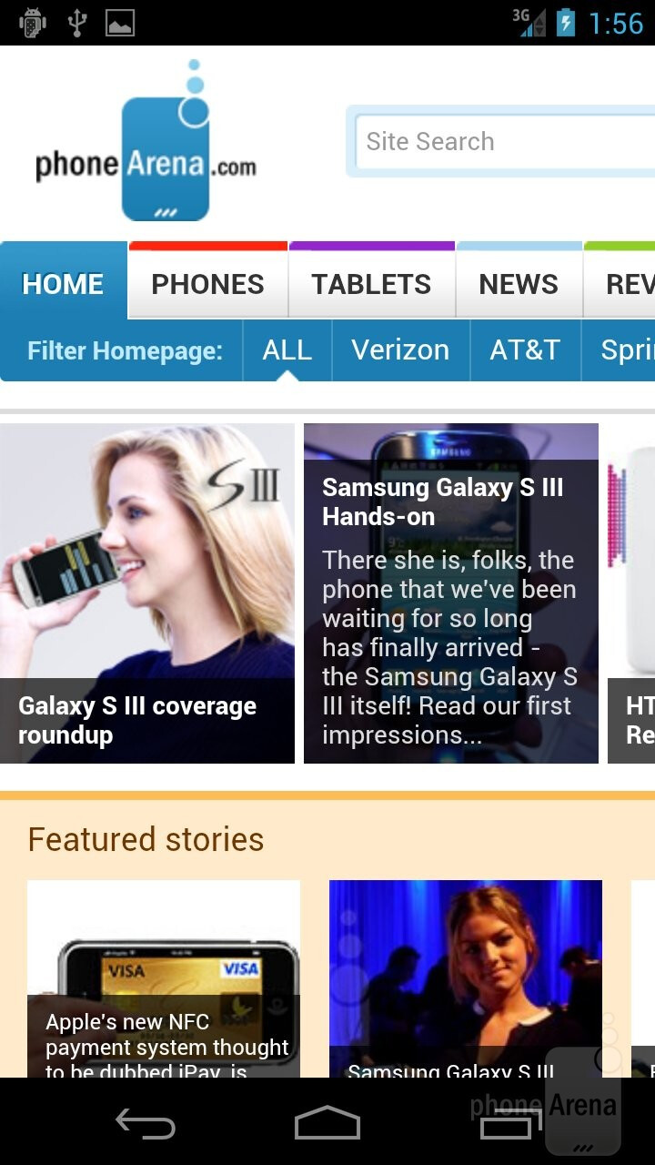 Surfing the web with the Samsung Galaxy Nexus - HTC EVO 4G LTE vs Samsung Galaxy Nexus