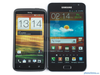 The HTC One X (left) and the Samsung Galaxy Note (right) - HTC One X vs Samsung Galaxy Note