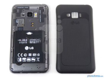 Battery compartment - LG Optimus Elite Review