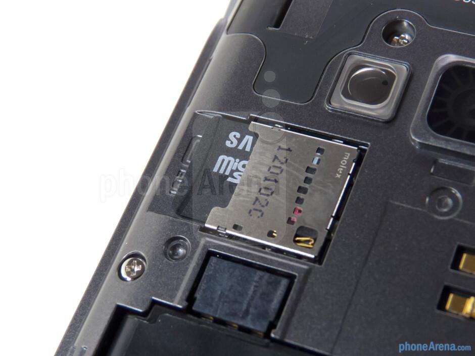 microSD card slot - LG Optimus Elite Review