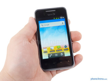 The thin body and quality materials of the LG Optimus Elite feel nice in the hand - LG Optimus Elite Review