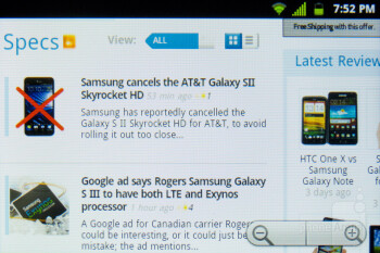 The stock browser is utilized in the LG Optimus Elite - LG Optimus Elite Review