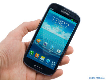 The inspired by nature design of the Samsung  Galaxy S III feels good in the hand - Samsung Galaxy S III Review