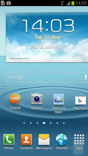 The  Samsung Galaxy S III comes with TouchWiz Nature UX on top of Android 4  ICS - Samsung Galaxy S III vs HTC One X