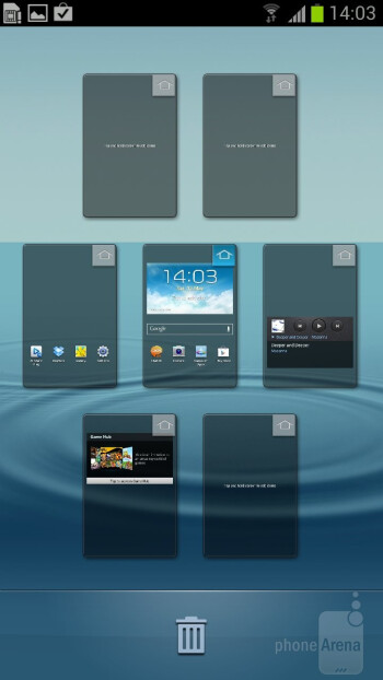 The Samsung Galaxy S III comes with TouchWiz Nature UX on top of Android 4 ICS - HTC Windows Phone 8X vs Samsung Galaxy S III