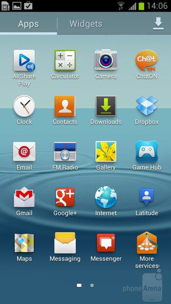 The  Samsung Galaxy S III comes with TouchWiz Nature UX on top of Android 4  ICS - Samsung Galaxy S III vs Samsung Galaxy S II