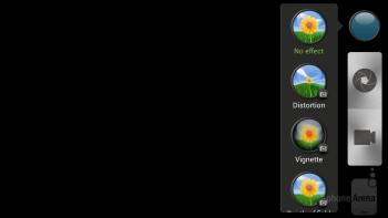 Camera interface - HTC EVO 4G LTE Review