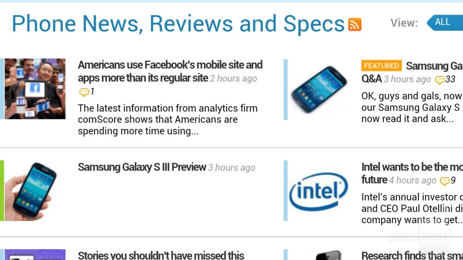 Web browser of the HTC EVO 4G LTE - Samsung Galaxy S III vs HTC EVO 4G LTE