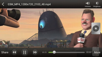 Video player - HTC EVO 4G LTE Review