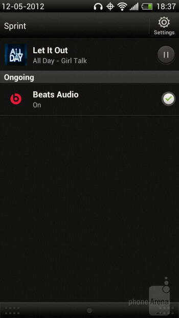 Music player - HTC EVO 4G LTE Review