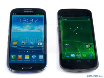 With Samsung  GALAXY Nexus - The Samsung  Galaxy S III (left) - Samsung Galaxy S III Review