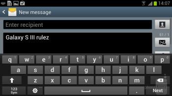 Galaxy S III - Virtual keyboards - HTC One X+ vs Samsung Galaxy S III
