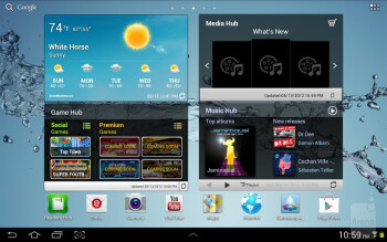 The Samsung Galaxy Tab 2 (10.1) comes with TouchWiz over Android 4.0 Ice Cream Sandwich - Samsung Galaxy Tab 2 (10.1) Review