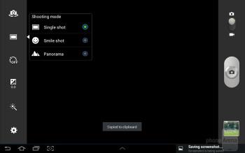 Camera interface - Samsung Galaxy Tab 2 (10.1) Review