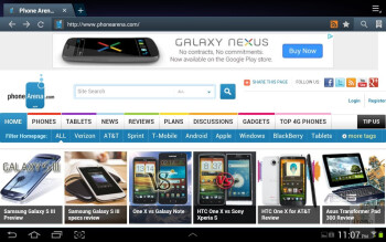 Web browsing with the Samsung Galaxy Tab 2 (10.1) - Samsung Galaxy Tab 2 (10.1) Review