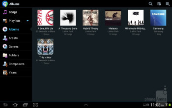 The music player interface - Samsung Galaxy Tab 2 (10.1) Review