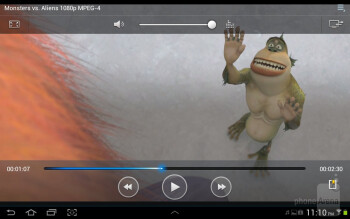 Video player - Samsung Galaxy Tab 2 (10.1) Review