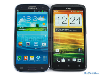 The Samsung Galaxy S III (left) and the HTC One X (right) - Samsung Galaxy S III vs HTC One X