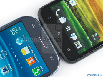 Android buttons - The Samsung Galaxy S III (left) and the HTC One X (right) - Samsung Galaxy S III vs HTC One X