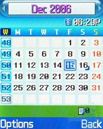Calendar and File Manager - Organizer - Samsung SGH-T719 Review