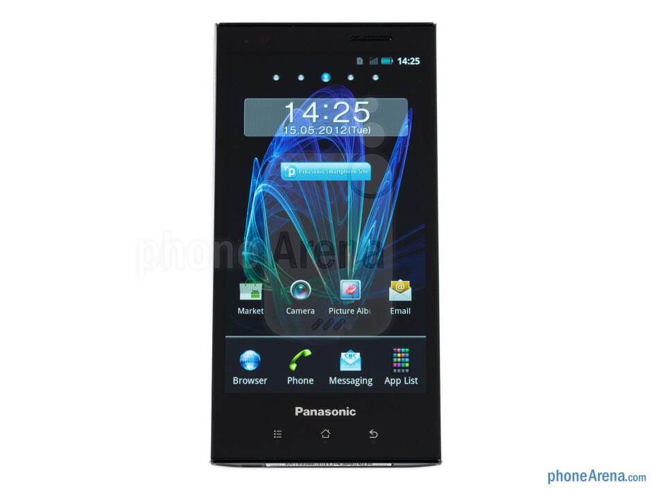 The 4.3-inch AMOLED screen - Panasonic ELUGA Review