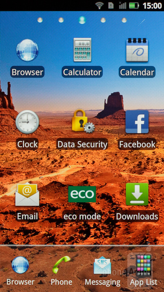 The user interface of the Panasonic ELUGA is mostly stock Android - Panasonic ELUGA Review