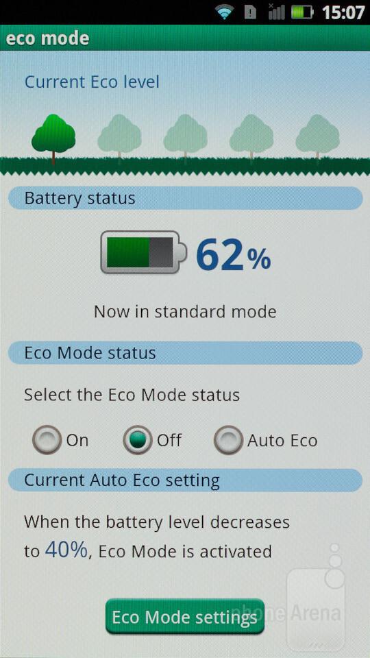 Data security and eco mode - Panasonic ELUGA Review