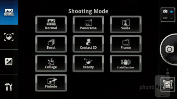 The camera interface of the Panasonic ELUGA - Panasonic ELUGA Review