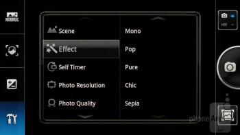 The camera interface of the Panasonic ELUGA - Panasonic ELUGA Review